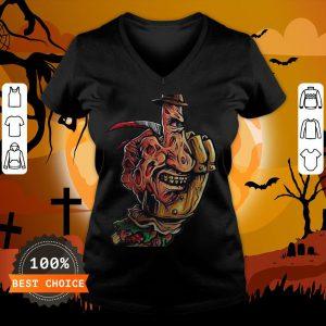 Halloween Jeanne Loves Horror On Freddy Krueger 2 V-neck