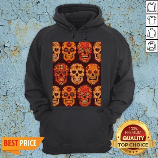 Hot Sugar Skulls Day Of The Dead Muertos Hoodie