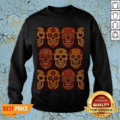 Hot Sugar Skulls Day Of The Dead Muertos Sweatshirt