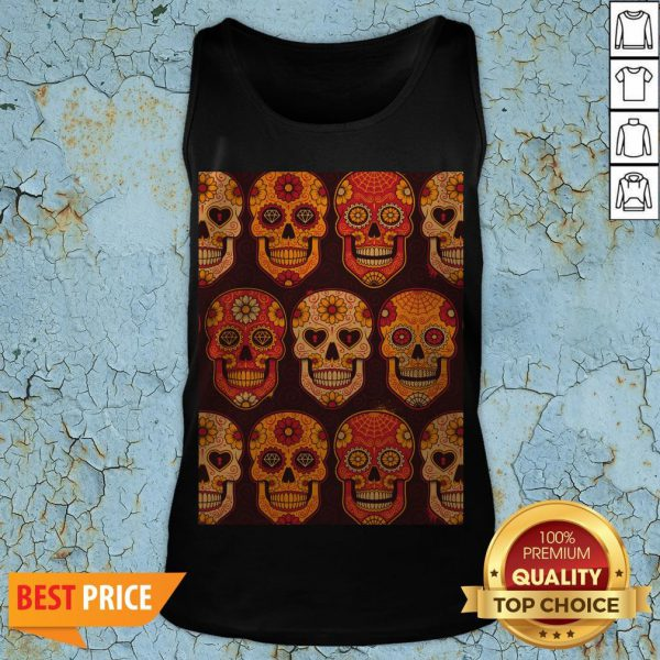 Hot Sugar Skulls Day Of The Dead Muertos Tank Top