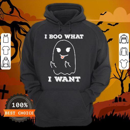I Boo What I Want Funny Ghost Halloween Hoodie