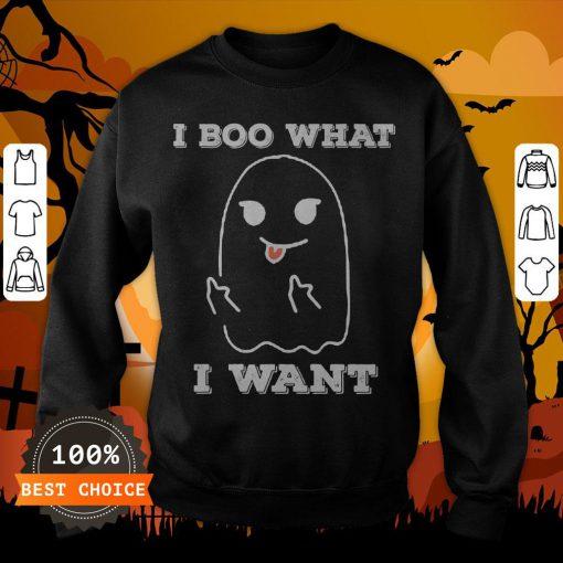 I Boo What I Want Funny Ghost Halloween Sweatshirt