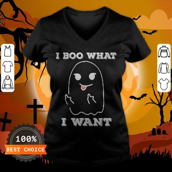 I Boo What I Want Funny Ghost Halloween V-neck