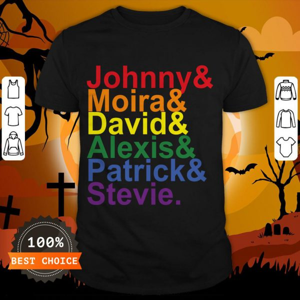 Johnny Moira David Alexis Patrick Stevie Pride Schitts Creek Classic T-Shirt