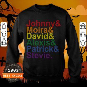 Johnny Moira David Alexis Patrick Stevie Pride Schitts Creek Classic T-Sweatshirt