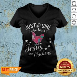 Just A Girl Who Loves Jesus And Chickens V-neck