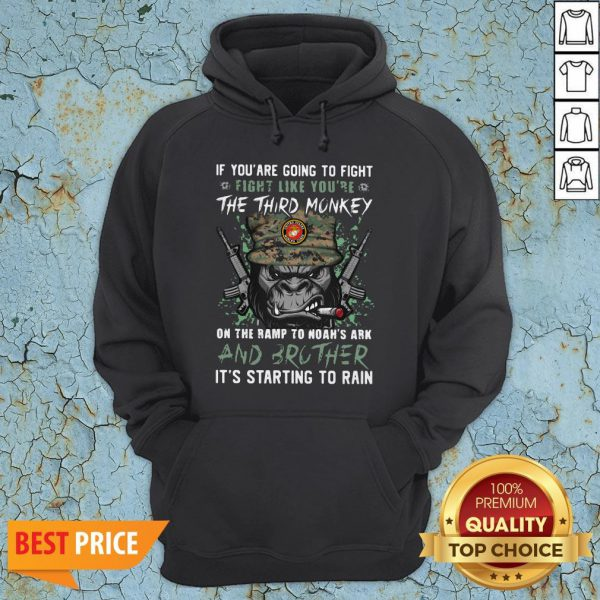 Marine If You Are Going To Fight Fight Like You're The Third Monkey On The Ramp To Noah's Ark And Brother Hoodie