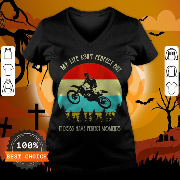My Life Isn't Perfect But It Does Have Perfect Moments Vintage V-neck