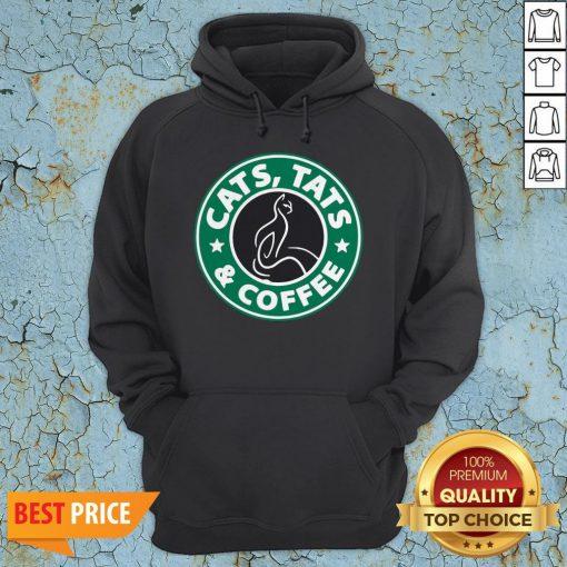 Nice Cats Tats And Coffee HoodieNice Cats Tats And Coffee Hoodie