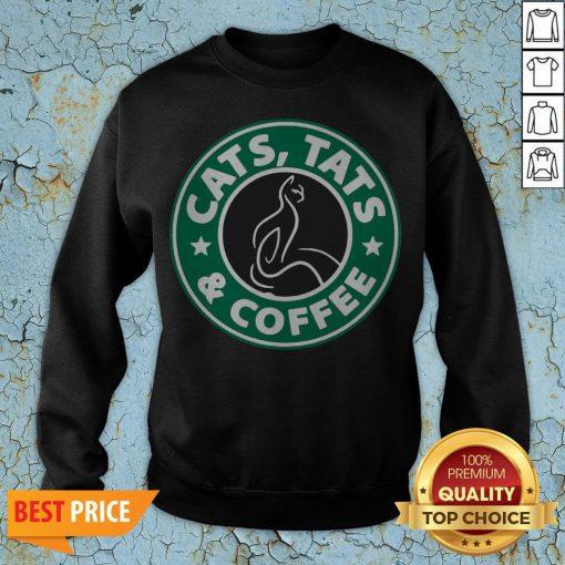 Nice Cats Tats And Coffee Sweatshirt
