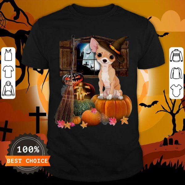Nice Chihuahua Witch Halloween Shirt
