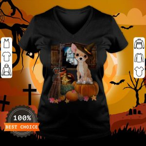 Nice Chihuahua Witch Halloween V-neck