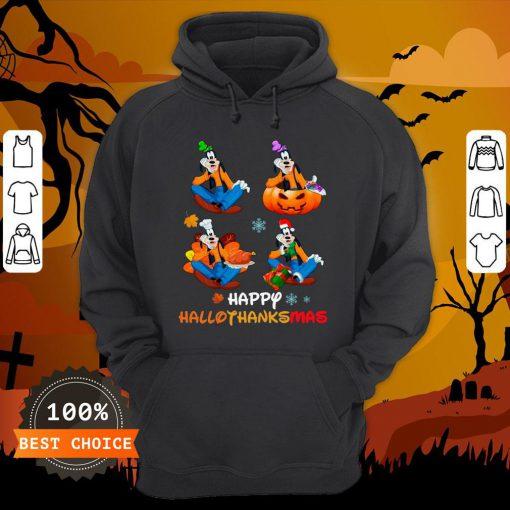 Nice Goofy Happy Hallothanksmas Hoodie