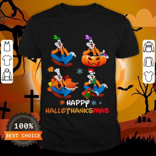 Nice Goofy Happy Hallothanksmas Shirt