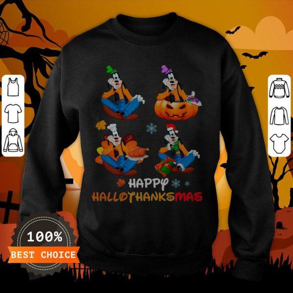 Nice Goofy Happy Hallothanksmas Sweatshirt