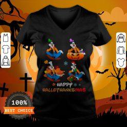 Nice Goofy Happy Hallothanksmas V-neck