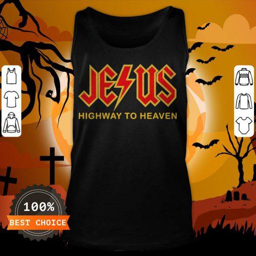 Nice Jesus Highway To Heaven Tank Top