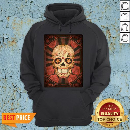 Official Vintage Day Of The Dead Sugar Skull Hoodie