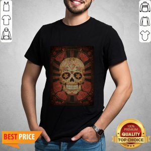 Official Vintage Day Of The Dead Sugar Skull Shirt
