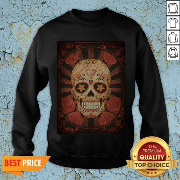 Official Vintage Day Of The Dead Sugar Skull Sweatshirt