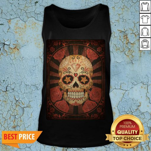 Official Vintage Day Of The Dead Sugar Skull Tank Top