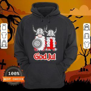 Pareja De Vikingos God Jul Hoodie