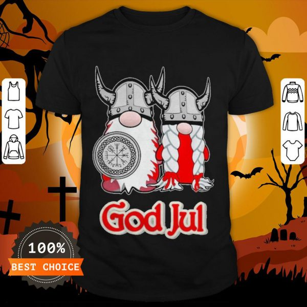 Pareja De Vikingos God Jul Shirt