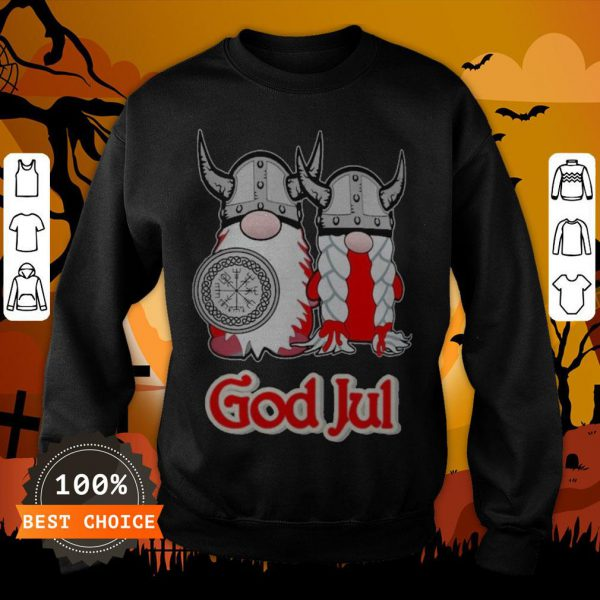 Pareja De Vikingos God Jul Sweatshirt