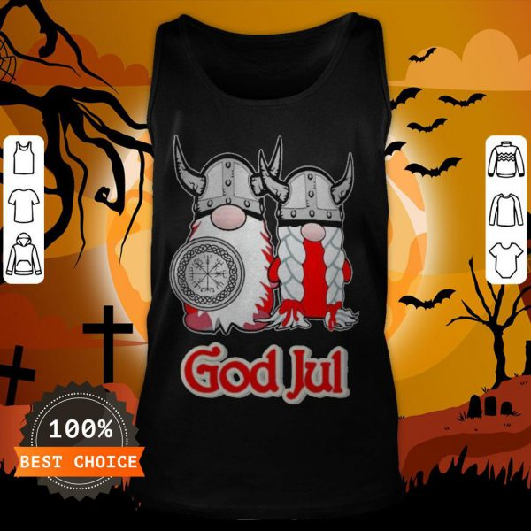 Pareja De Vikingos God Jul Tank Top