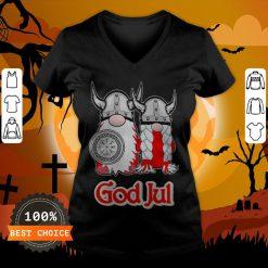 Pareja De Vikingos God Jul V-neck