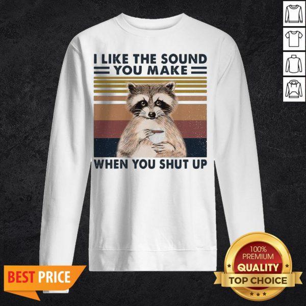Raccoon I Like The Sound You Make When You Shut Up Vintage Retro Sweatshirt
