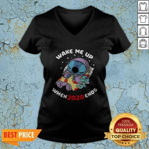 Stitch Wake Me Up When 2020 Ends V-neck