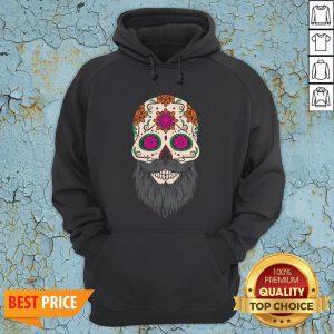 Sugar Skull Beard Racerback Hoodie