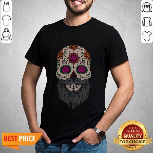 Sugar Skull Beard Racerback Shirt