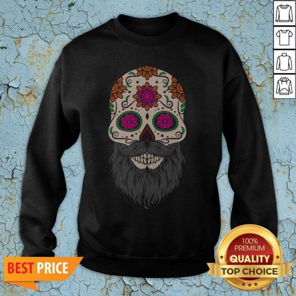 Sugar Skull Beard Racerback SweatshirtSugar Skull Beard Racerback Sweatshirt