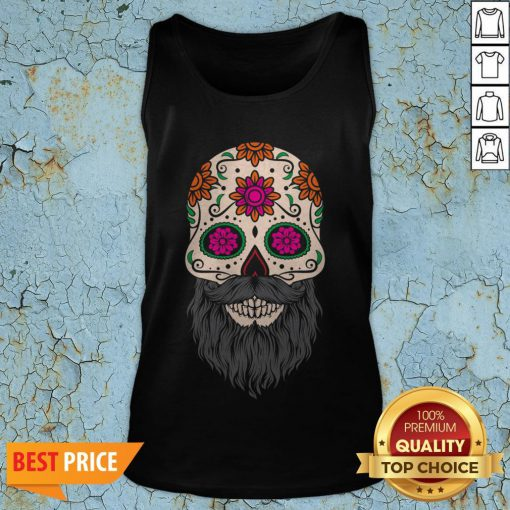 Sugar Skull Beard Racerback Tank TopSugar Skull Beard Racerback Tank Top