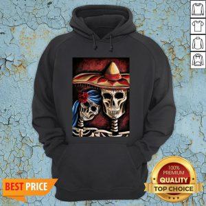 Sugar Skull Dia De Los Muertos Day Of Dead Halloween Hoodie