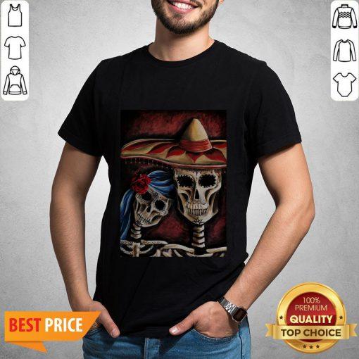 Sugar Skull Dia De Los Muertos Day Of Dead Halloween Shirt