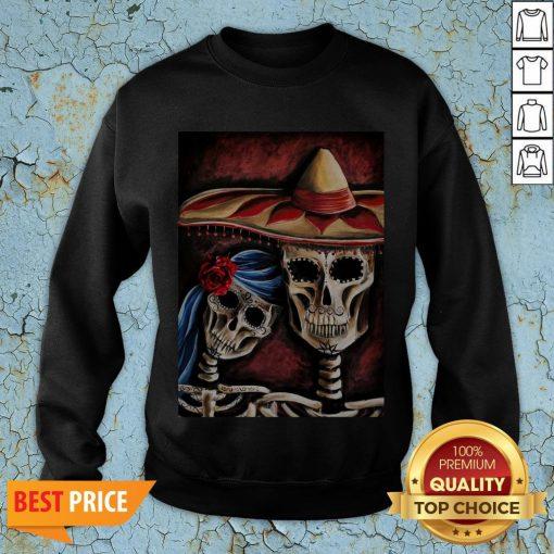 Sugar Skull Dia De Los Muertos Day Of Dead Halloween Sweatshirt