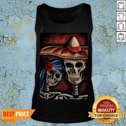 Sugar Skull Dia De Los Muertos Day Of Dead Halloween Tank Top