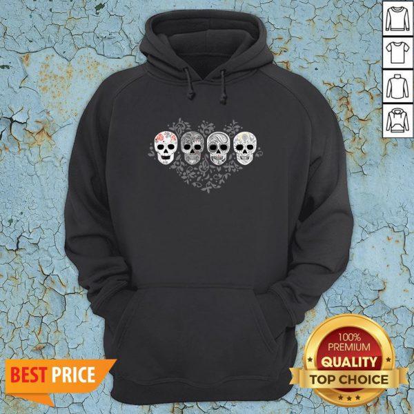 Sugar Skulls Skeletons Celebrate Day Of The Dead Hoodie