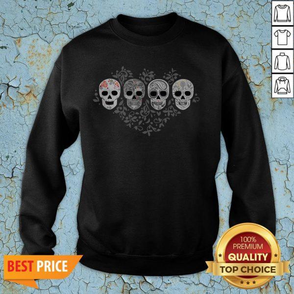 Sugar Skulls Skeletons Celebrate Day Of The Dead Sweatshirt