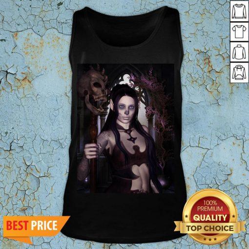 The Dark Princess With Skulls Day Of The Dead Dia De Los Muertos Tank Top