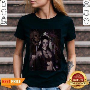 The Dark Princess With Skulls Day Of The Dead Dia De Los Muertos V-neck