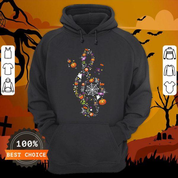 The Music Witch Pumpkin Ghost Spiderweb Halloween HoodieThe Music Witch Pumpkin Ghost Spiderweb Halloween Hoodie