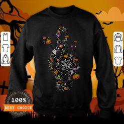 The Music Witch Pumpkin Ghost Spiderweb Halloween Sweatshirt