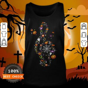 The Music Witch Pumpkin Ghost Spiderweb Halloween Tank Top