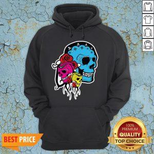 Thrice The Death Dia De Los Muertos Sugar Skull Hoodie