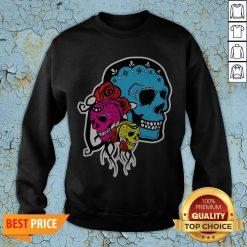 Thrice The Death Dia De Los Muertos Sugar Skull Sweatshirt