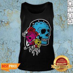 Thrice The Death Dia De Los Muertos Sugar Skull Tank TopThrice The Death Dia De Los Muertos Sugar Skull Tank Top